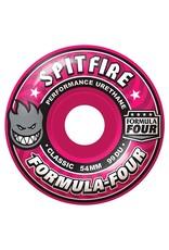 Spitfire Spitfire Formula Four Classic Pink 54mm 99d wheels (set of 4)