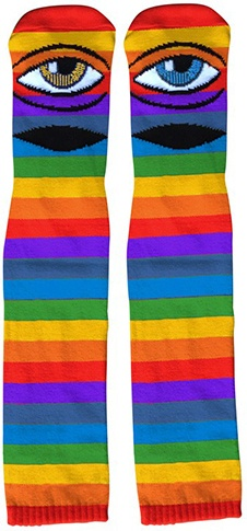 Toy Machine Toy Machine Sect Rainbow Knee High Socks