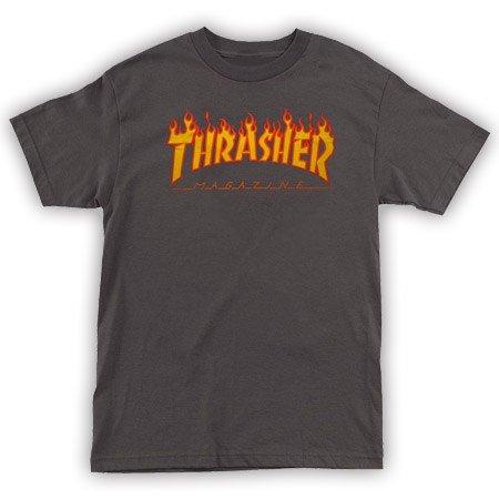 Thrasher Mag Thrasher Flame T-shirt - Charcoal