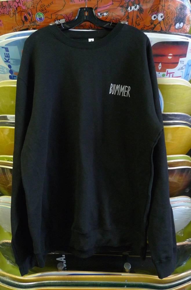 Bummer Bummer Embroidered Crewneck - Black (size X-Large)
