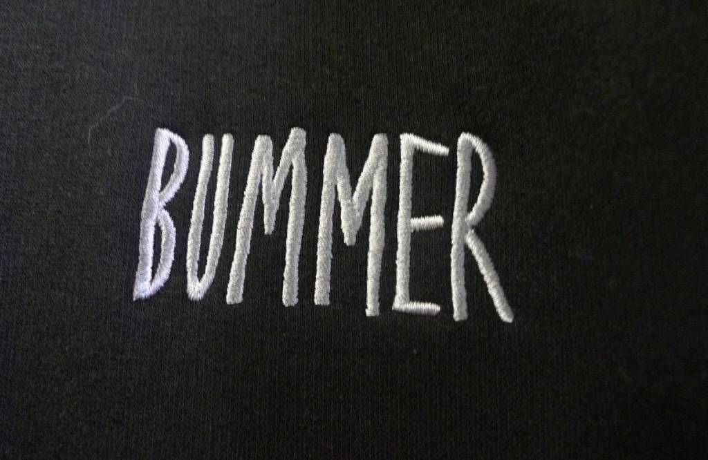 Bummer Bummer Embroidered Crewneck - Black (size X-Large)