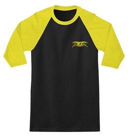 Anti-Hero Anti-Hero Stock Eagle 3/4 Sleeve T-shirt - Black/Gold