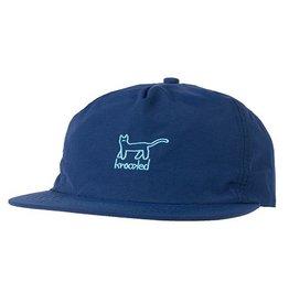 Krooked Krooked Kat Snapback Hat - Navy/Lt Blue