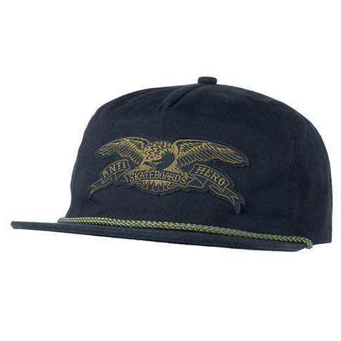 Anti-Hero Anti-Hero Stock Eagle Patch Snapback Hat - Black