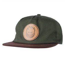 Spitfire Spitfire Bighead Circle Patch Snapback Hat - Dark Army/Brown
