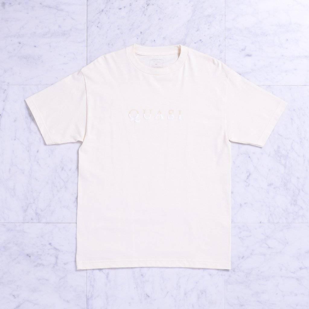 Quasi Quasi Wordmark T-shirt - Creme (size Medium)