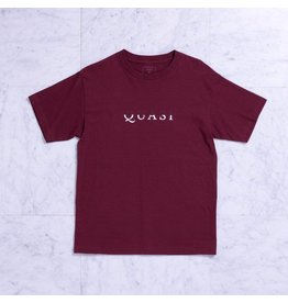 Quasi Quasi Wordmark T-shirt - Burgundy