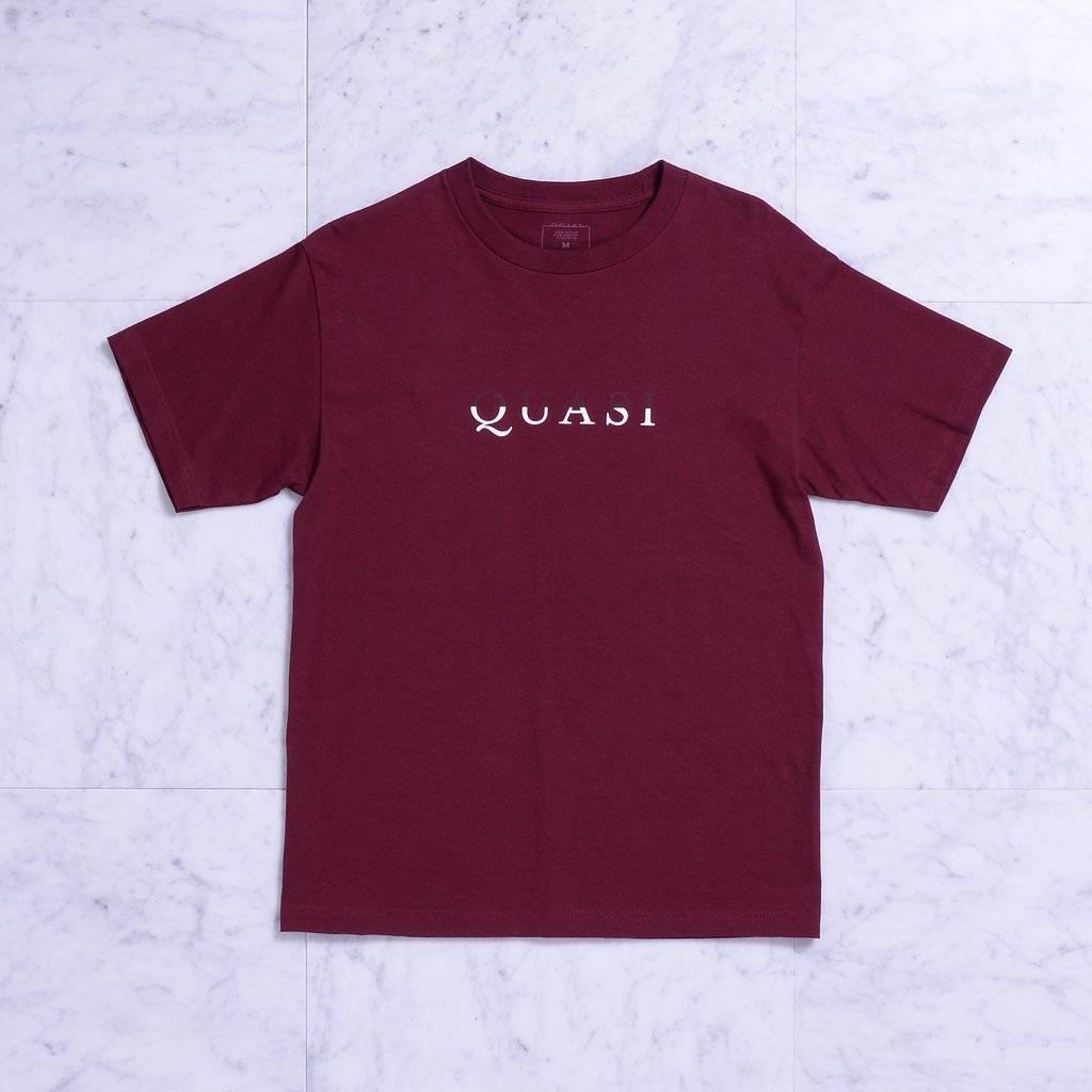 Quasi Quasi Wordmark T-shirt - Burgundy (size Medium)