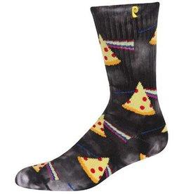 Psockadelic Psockadelic Darkside of the Pizza Black Tie Dye Socks