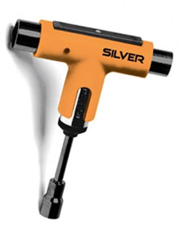 Silver Silver Premium Skateboard Tool (Ratchet) - Orange/Black