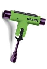 Silver Silver Premium Skateboard Tool (Ratchet) - Green/Purple