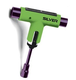 Silver Silver Premium Skateboard Tool (Ratchet) - Green/Purple