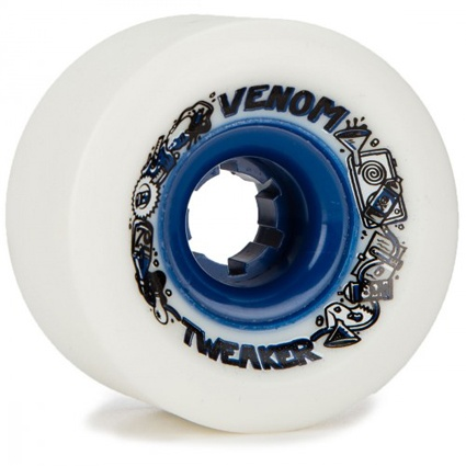 Venom Tweaker White/Blue Hub 70mm 82a Wheels (set of 4)