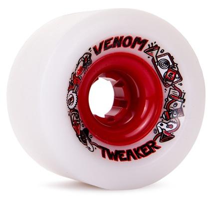 Venom Tweaker White/Red Hub 70mm 78a Wheels (set of 4)