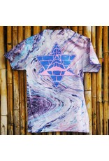 Pyramid Country Pyramid Country Cotton Candy Marble T-shirt - Blue/Cotton Candy