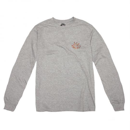 Magenta Magenta Klimt Longsleeve T-shirt - Heather Grey