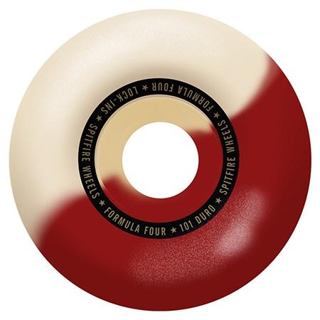 Spitfire Spitfire Formula Four Lock ins Red/Natural Swirl 53mm 99d wheels (set of 4)