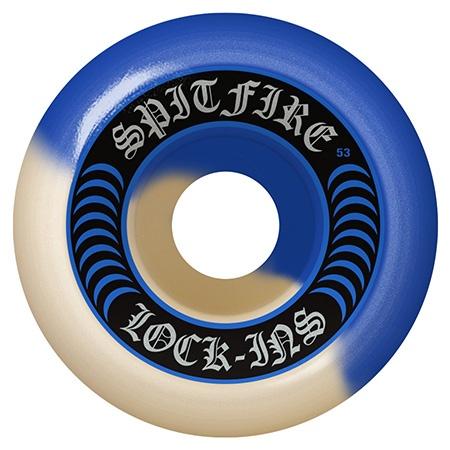 Spitfire Spitfire Formula Four Lock ins Blue/Natural Swirl 55mm 101d wheels (set of 4)