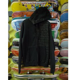 Krooked Krooked Shadow Skrpyt Zip up Hoodie - Black (size Small)