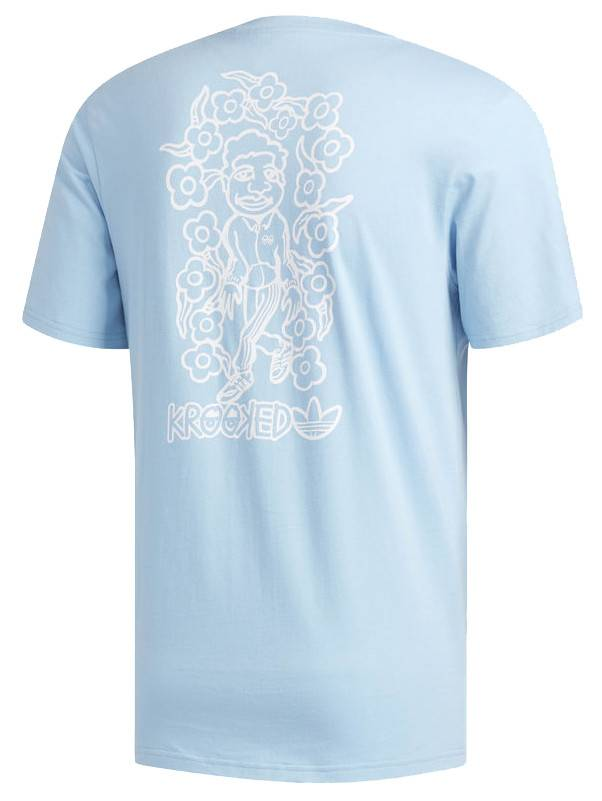 Adidas Adidas x Krooked Tee - Clear Blue/White