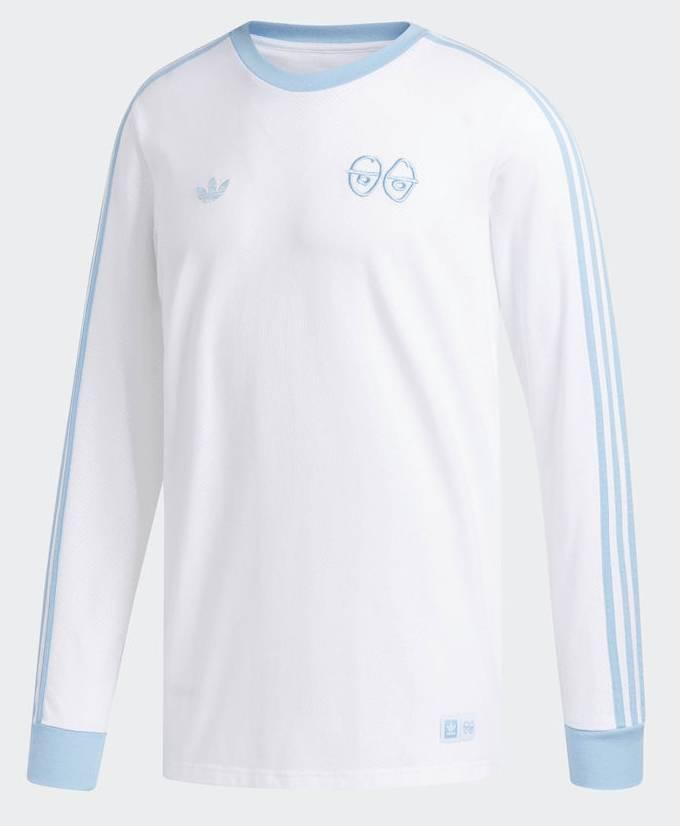 Adidas Adidas x Krooked Longsleeve Tee - White/Clear Blue