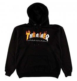 Thrasher Mag Thrasher Flame Mag Logo Hoodie - Black