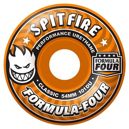 Spitfire Spitfire Formula Four Classic Agent Orange 54mm 101d wheels (set of 4)