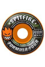 Spitfire Spitfire Formula Four Cover Classic  Orange 53mm 99d wheels (set of 4)
