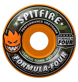 Spitfire Spitfire Formula Four Cover Classic  Orange 53mm 99d wheels (set of 4)