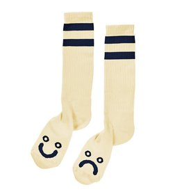 Polar Polar Happy Sad Classic Sock - Pastel Yellow