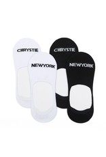 Chrystie NYC Chrystie NYC No Show 2 in 1 pack socks - White/Black