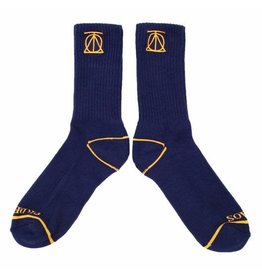 Theories Brand Theories Crest Sock - Navy/Gold