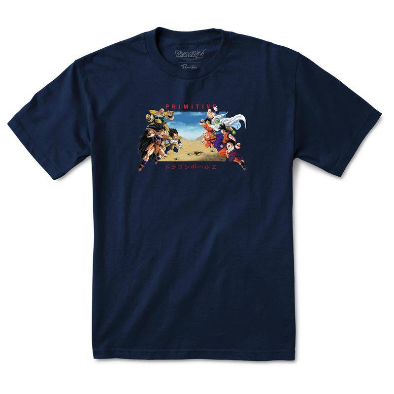Primitive Primitive x Dragon Ball Z Battle T-shirt - Navy