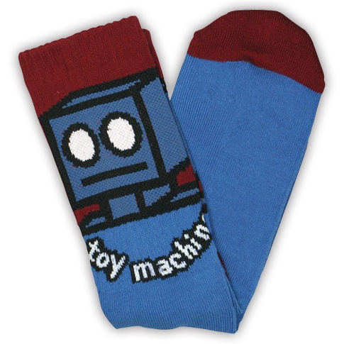 Toy Machine Toy Machine Robot Blue Socks