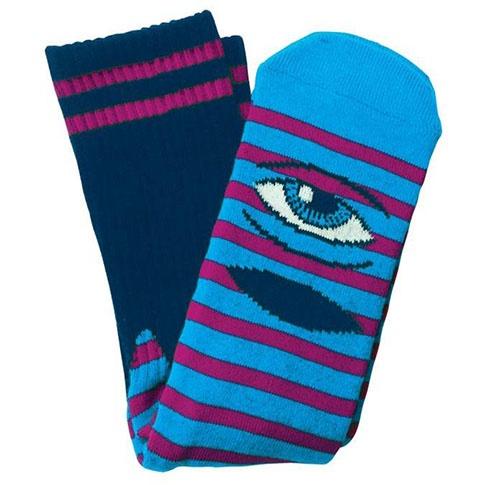 Toy Machine Toy Machine Sect Eye Stripe Navy/Purple Socks