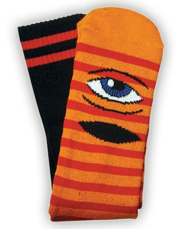 Toy Machine Toy Machine Sect Eye Stripe Orange/Red Socks