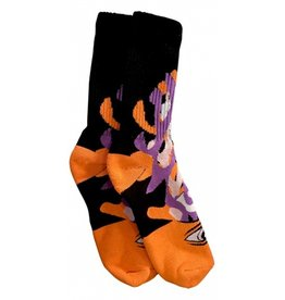 Toy Machine Toy Machine Barf Sect Multi Orange Socks