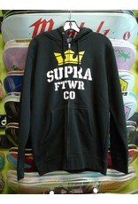 Supra Supra Stack 2 Zip-up Hoodie - Black (size Small)