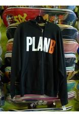 Plan B Plan B Zip-up Hoodie - Black (size Small)