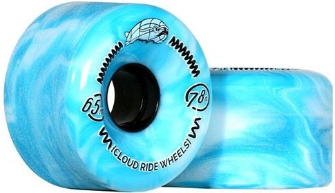 Cloud Ride Cruiser Wheels Marbled Blue/White 65mm 78a (set of 4)
