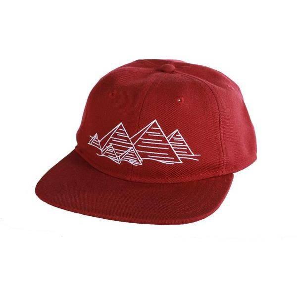 Theories Brand Theories Brand Fingerprint Hat - Crimson Acrylic Wool