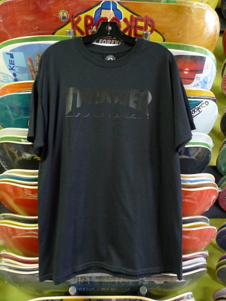 Thrasher Mag Thrasher Skate Mag Logo T-shirt - Black/Black