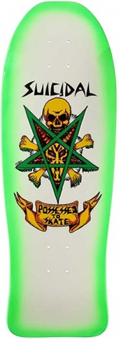 Dogtown Dogtown x Suicidal Tendencies Possessed to skate Green Fade Re-issuse Deck - 10.00