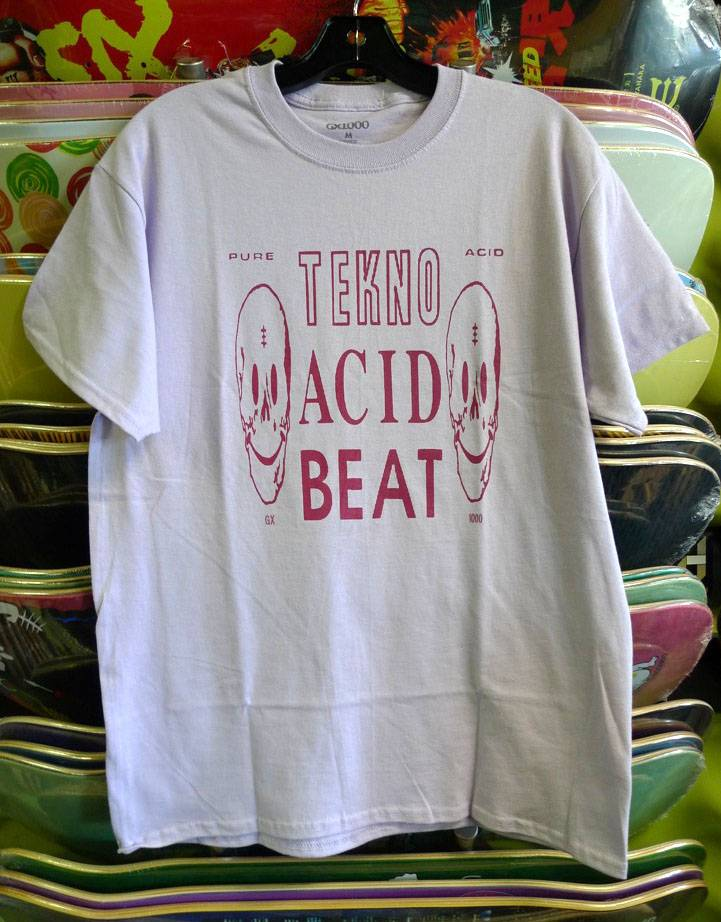 GX1000 GX1000 Acid Beat T-shirt - Orchid (size X-Large)
