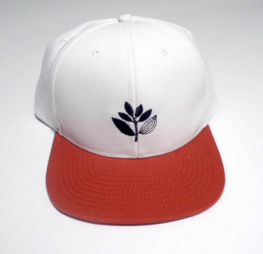 Magenta Magenta Plant Snapback Hat - White/Red