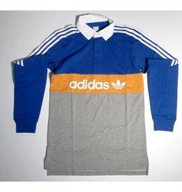 Adidas Adidas Heritage Colorblocked Polo - Royal Blue/Godenrod/Heather Grey