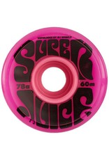 OJ wheels OJ 60mm Super Juice Pink 78a wheels (set of 4)