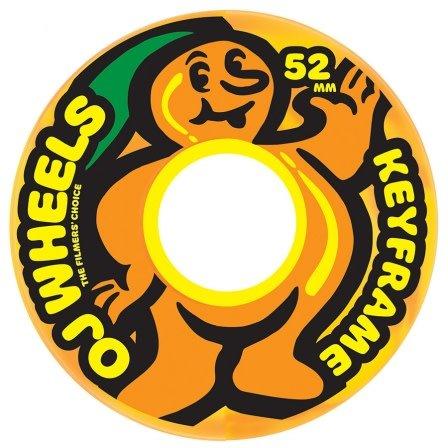 OJ wheels OJ 52mm Citrus Keyframe Yellow/Orange swirl 87a wheels (set of 4)