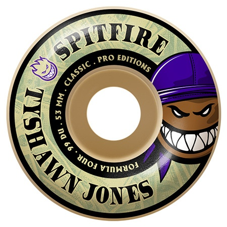 Spitfire Spitfire Formula Four Classic Tyshawn Jones 52mm 99d (Set of 4)