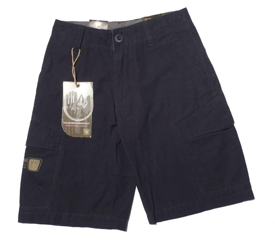 Volcom Crimson Youth Shorts - Navy (size 22)